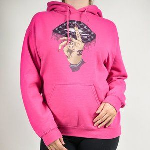 Personalized hoodie no brand Hot pink